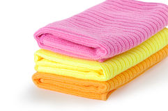 Rags for cleaning. On a white background, towel Stock Photography