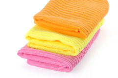 Rags for cleaning. On a white background, towel Stock Photo