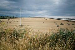Rags des Heus auf dem Gebiet in Apulien Italien Stockbild