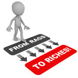 Rags to riches Royalty Free Stock Photography