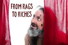 From rags to riches Stock Photography