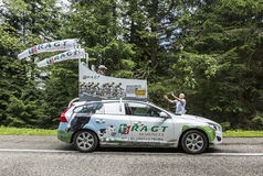 RAGT Semences车-环法自行车赛2014年 库存图片