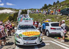 RAGT Semences Car in Pyrenees Mountains Royalty Free Stock Images