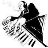 ragtime пианиста иллюстрация штока
