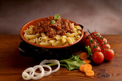 Ragu pasta in bowl Stock Images