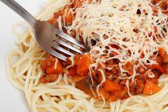 Ragu sauce spaghetti Stock Photo