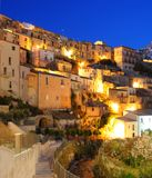 Ragusa city at night  Stock Photography