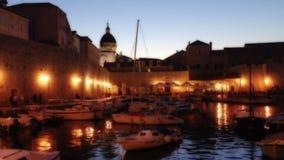 Ragusa Croazia Marina View stock footage