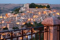 Ragusa at dusk royalty free stock photography