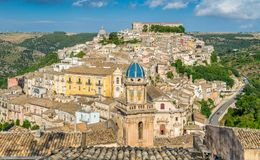 Ragusa, famous baroque city in Sicily, Italy. stock image