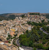 Ragusa Ibla cityscape. Sicily, Italy. Royalty Free Stock Photography