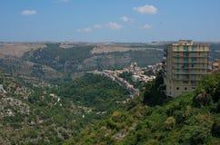 Ragusa Ibla cityscape. Sicily, Italy. Royalty Free Stock Photos