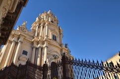 Ragusa Ibla, of eenvoudig Ibla, zijn één van de twee buurten die het historische centrum van Ragusa in Sicilië vormen stock foto's