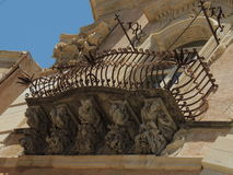 Baroque balconies Royalty Free Stock Images