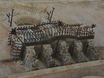 Baroque balconies Royalty Free Stock Image