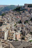 Ragusa Ibla's roof tops viewed from above Stock Image