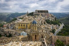 Ragusa Ibla, Sicilien, Italien arkivbilder