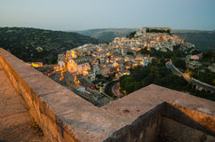 Ragusa Ibla (Sicily) in the evening Royalty Free Stock Images