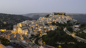 Ragusa Ibla (Sicily) in the evening Stock Photos