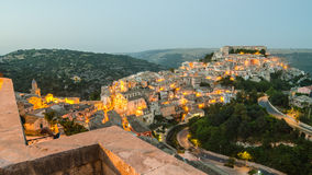 Ragusa Ibla (Sicily) in the evening Stock Images