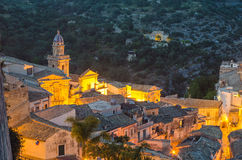 Ragusa Ibla (Sicily) in the evening Stock Photography