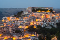 Ragusa Ibla (Sicily) in the evening Royalty Free Stock Image