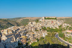 Ragusa Ibla in Sicily on a sunny day Stock Photo