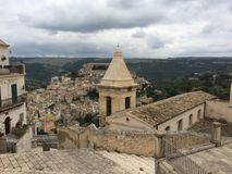 Ragusa Ibla. View of ancient Ragusa Ibla in Sicily royalty free stock images