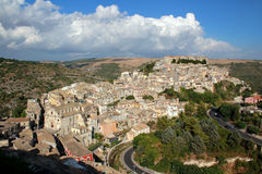 Ragusa Ibla viewed from above Royalty Free Stock Images