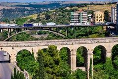 Ragusa, Italy - June 02, 2010: The bridges of Ragusa, baroque city in Sicily Royalty Free Stock Photo