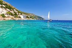 Ragusa marino adriatico, Croazia Fotografie Stock Libere da Diritti