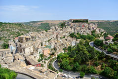 Ragusa. View of Ragusa in Italy's southern, region of Sicily Stock Photos