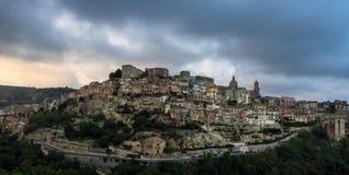 Raguse, Sicile, Italie un jour orageux Photo libre de droits