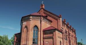 Rahachow, Bielorrusia Iglesia católica de Anthony Of Padua Es valor histórico y cultural de la República de Belarús almacen de video