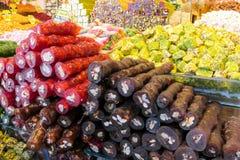 Rahat lokum at the market Royalty Free Stock Photos
