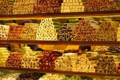 Rahat-lokum am Markt Stockbild