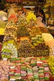 Rahat lokum at the turkish market stock image