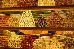 Rahat lokum at the turkish market royalty free stock images