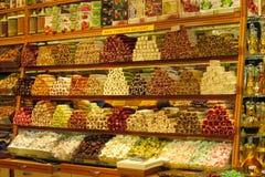 Rahat lokum at the turkish market royalty free stock photos