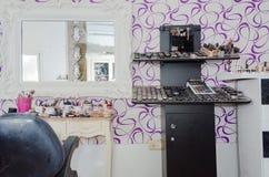 Rahat, Negew, Izrael - Poślubiać piękno salon Pułki z produktami, 2015 Obrazy Stock