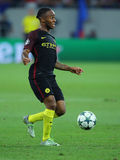 Raheem Sterling. Raheem Shaquille Sterling winger of Manchester City, pictured during the Uefa Champions League match against Steaua Bucharest. Manchester City stock image