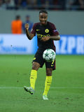 Raheem Sterling. Raheem Shaquille Sterling winger of Manchester City, pictured during the Uefa Champions League match against Steaua Bucharest. Manchester City stock photos
