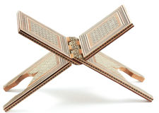 Rahl - παραδοσιακή υποστήριξη κάτω από το Koran. Στοκ Φωτογραφία