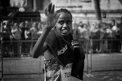 Rahma Tusa Chota wint de 24ste uitgave van de Marathon van Rome Royalty-vrije Stock Foto's