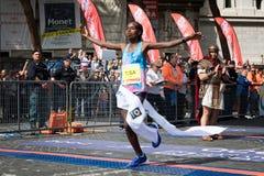 Rahma Tusa Chota wint de 24ste uitgave van de Marathon van Rome Stock Foto's