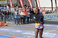 Rahma Tusa Chota wint de 24ste uitgave van de Marathon van Rome Royalty-vrije Stock Afbeelding