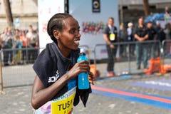 Rahma Tusa Chota wint de 24ste uitgave van de Marathon van Rome Royalty-vrije Stock Foto
