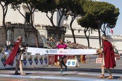 Rahma Tusa podczas Rzym maratonu 2016 Obrazy Royalty Free