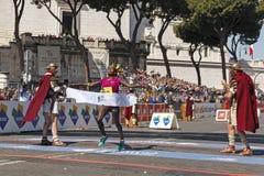 Rahma Tusa podczas Rzym maratonu 2016 Zdjęcie Royalty Free