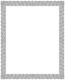 Rahmen-Batik-Strudel-Blumenverzierung Lizenzfreie Stockfotos